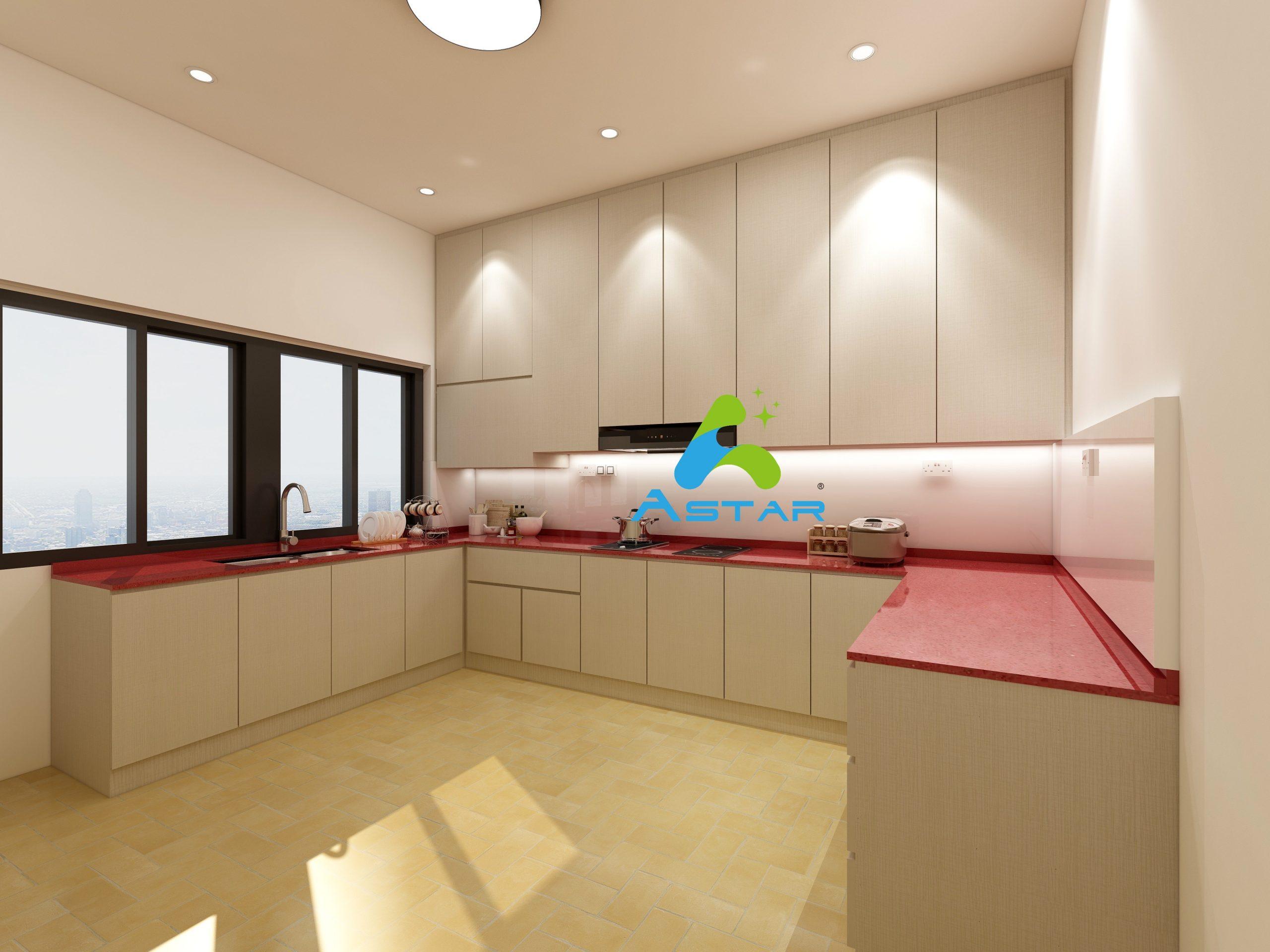astar furnishing complete projects aluminium kitchen cabinet vanity cabinet wardrobe Jalan Binchang 2