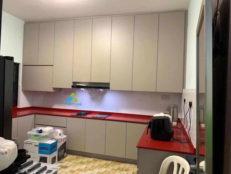 astar furnishing complete projects aluminium kitchen cabinet vanity cabinet wardrobe Jalan Binchang 4