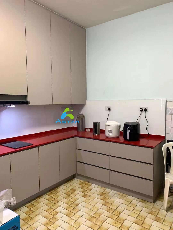 astar furnishing complete projects aluminium kitchen cabinet vanity cabinet wardrobe Jalan Binchang 6