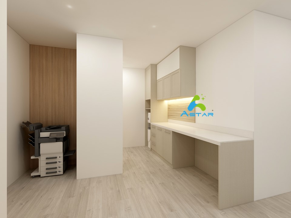 astar furnishing complete projects aluminium kitchen cabinet vanity cabinet wardrobe National Heritage Board @ Stamford Road 01