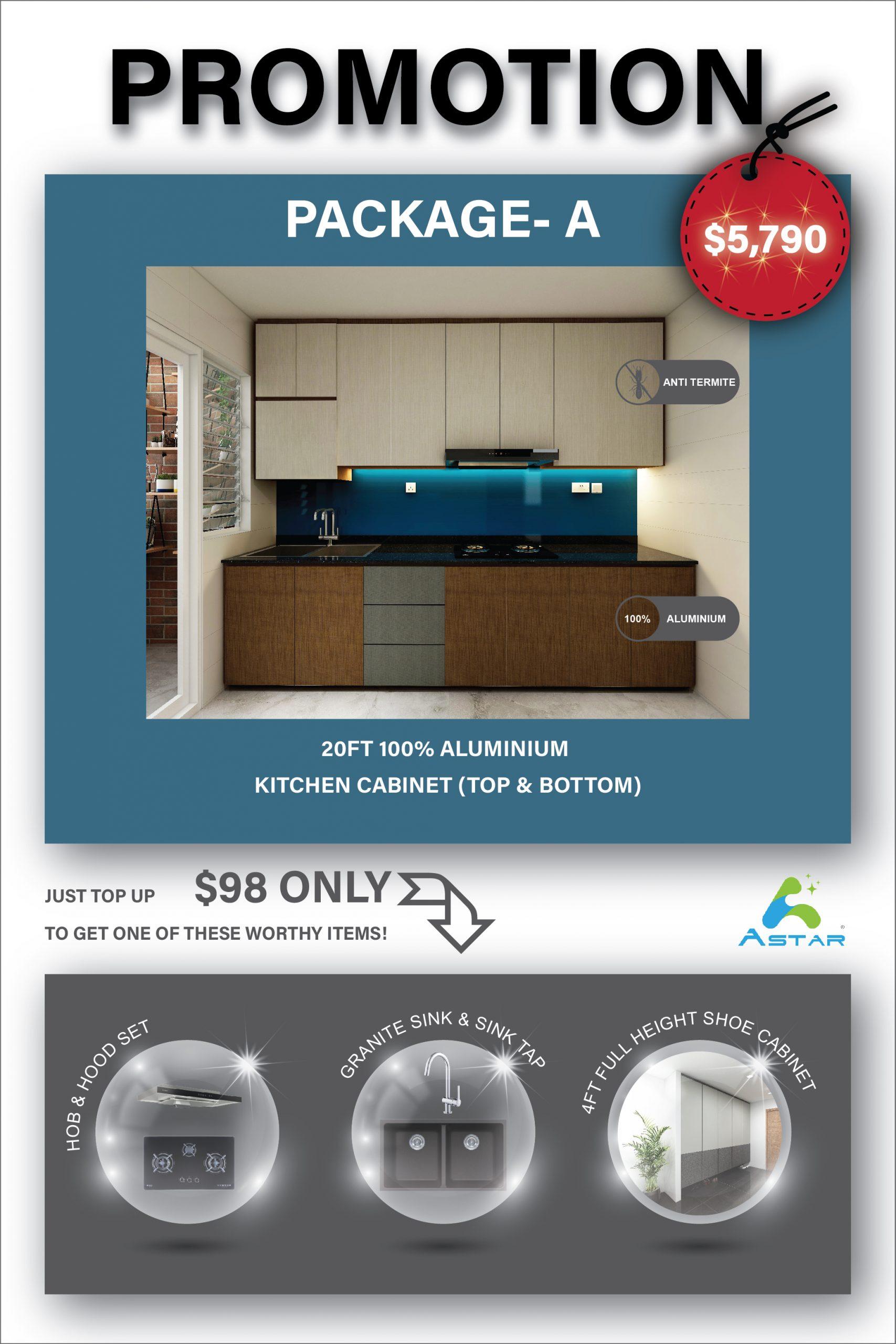 Aluminium Kitchen Cabinet JUNE 2020 PROMOTION 01