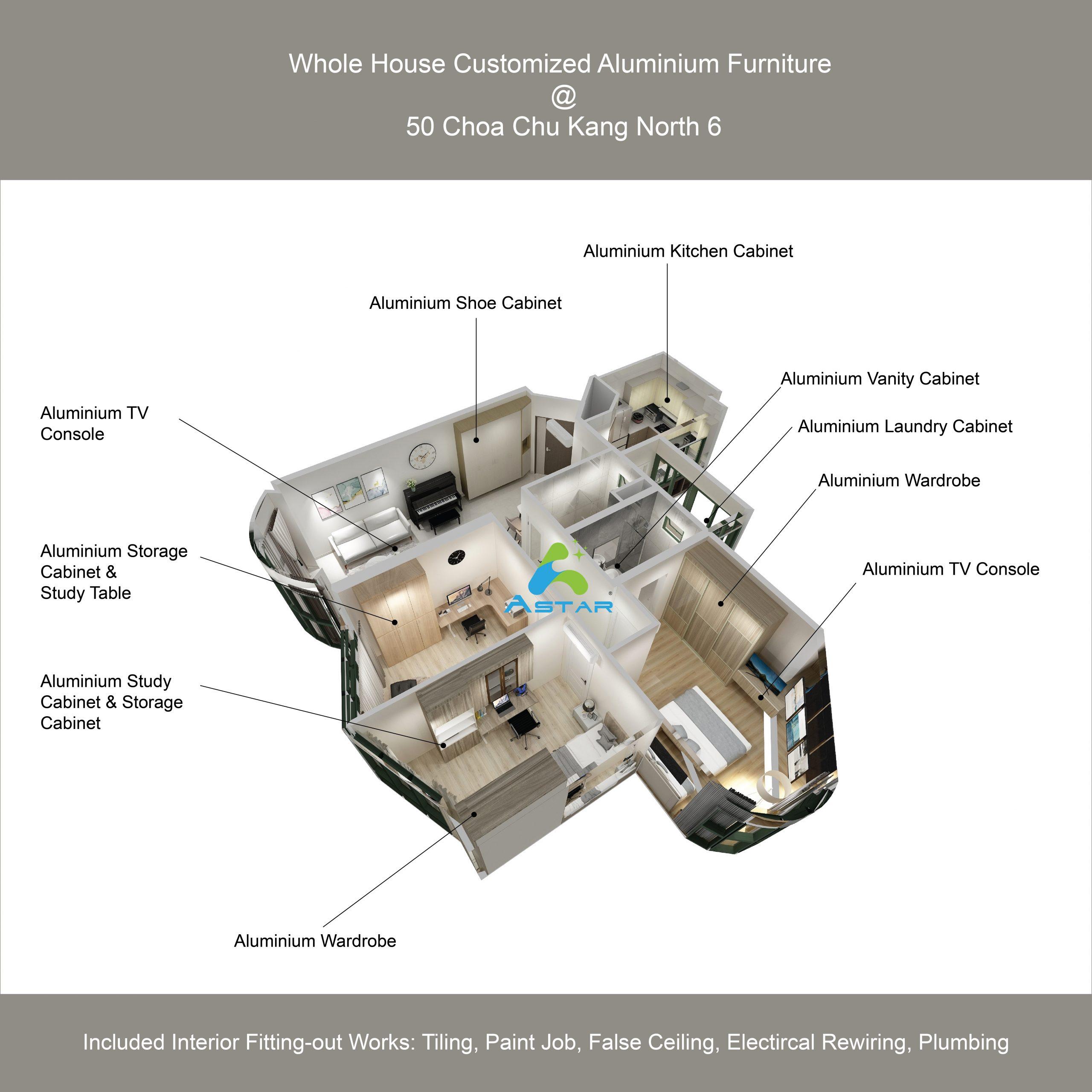 astar furnishing aluminum furniture projects Yew Mei Green Condominium 01