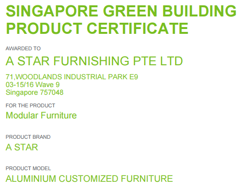 astar furnishing green products