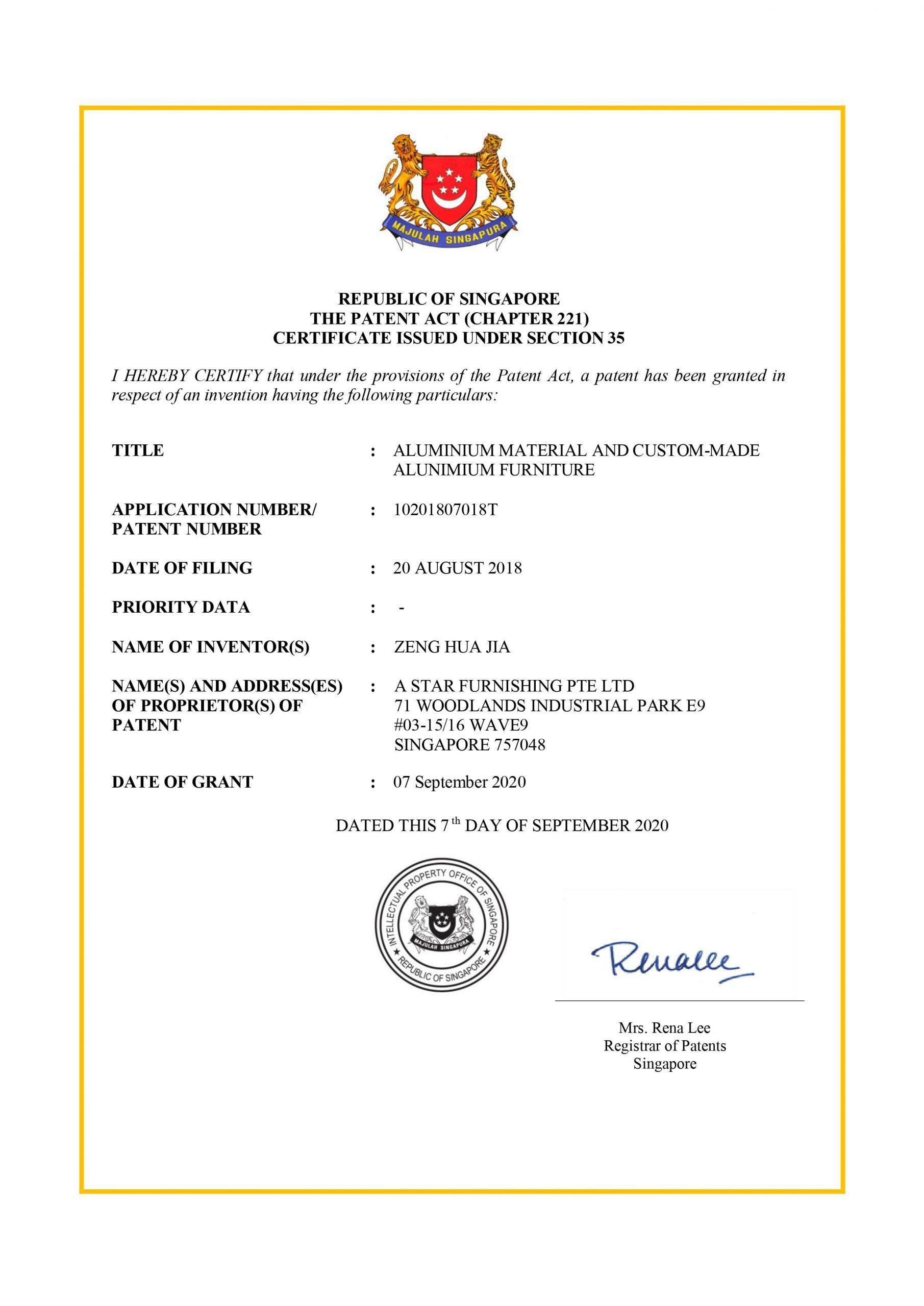 aluminum kitchen cabinet patent